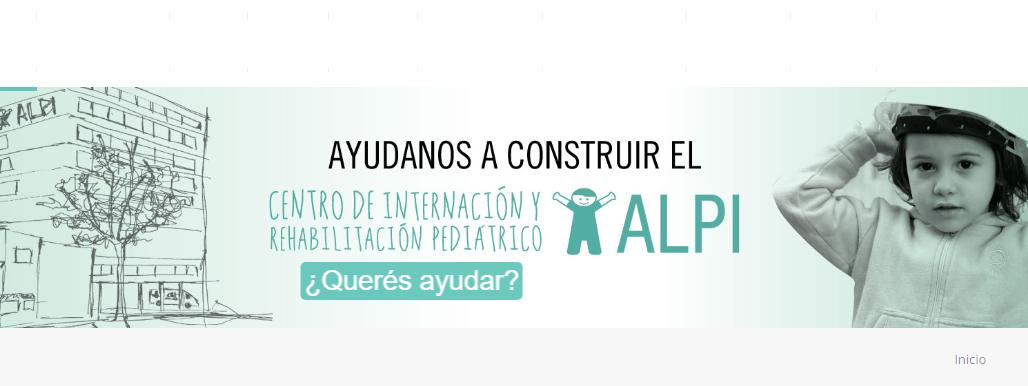 Ayudar en la construcción del Centro de Internación y Rehabilitación Pediátrico